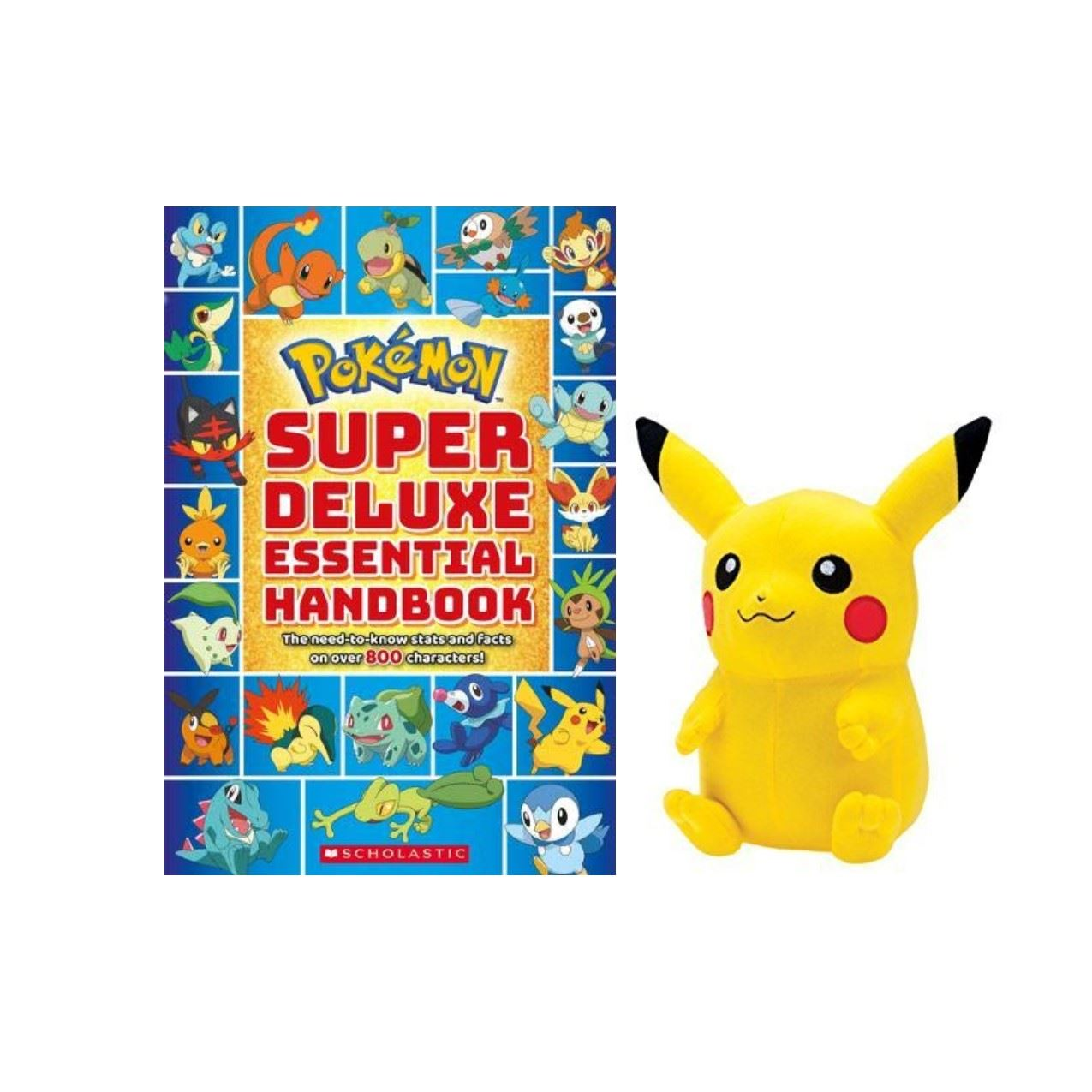 Pikachu and book