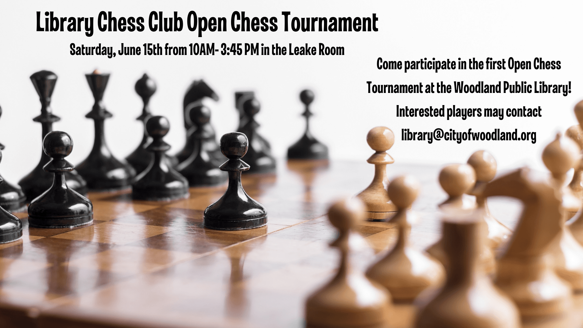 Library Chess Club Open Chess Tournament