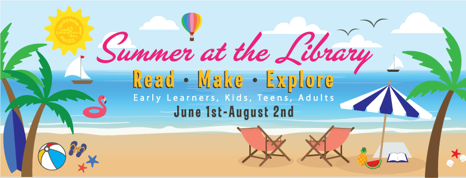 Summer at the Library Banner